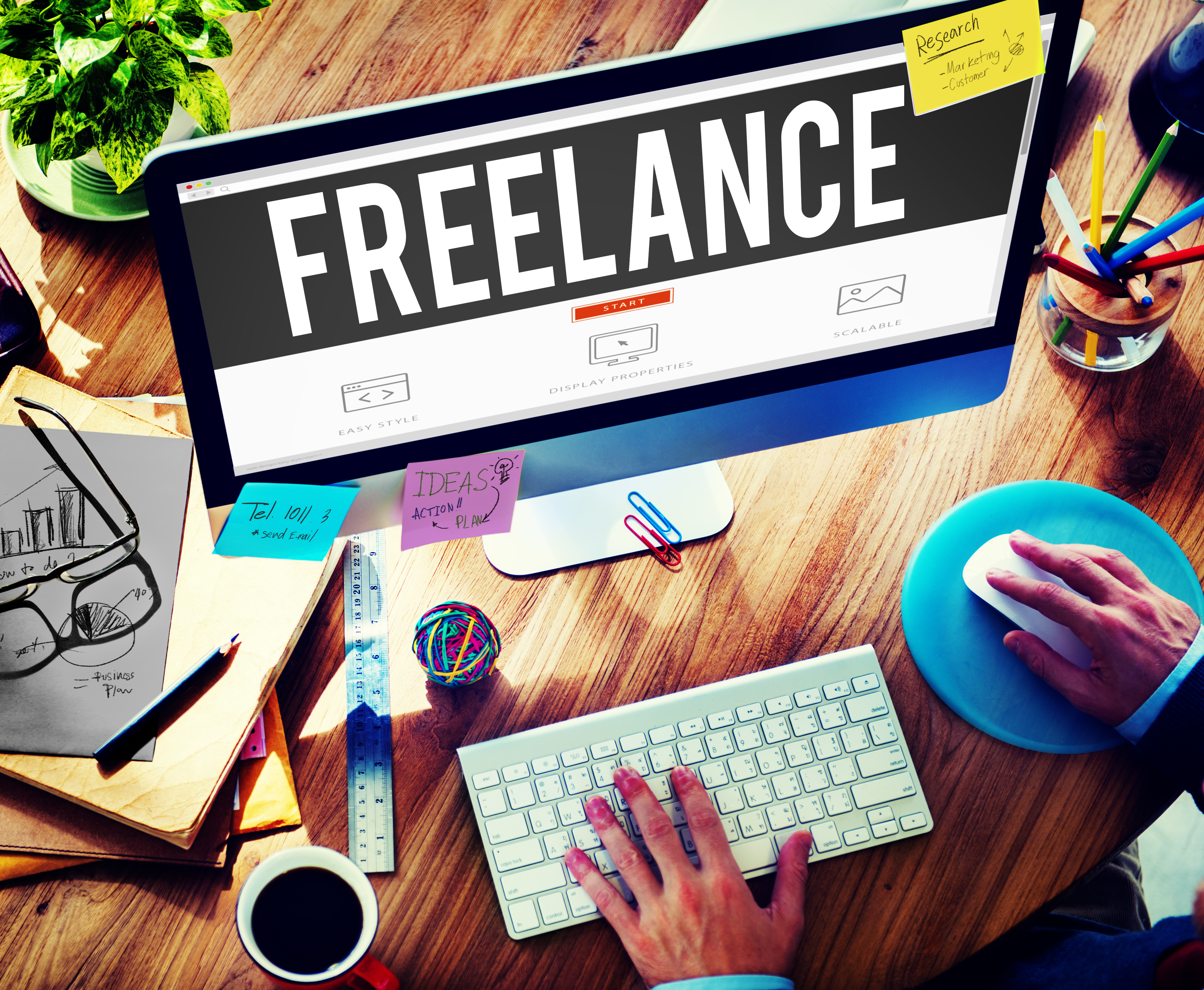 Freelance Part time Outsources Job Employment Concept